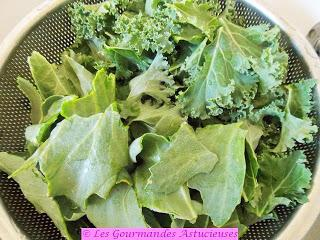 Pâtes et chou Kale et maritime en salade (Vegan)
