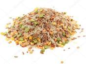 Salade riz, pois cassé lentilles