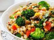 Porridge végétarien l'orge brocolis