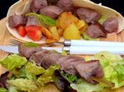 Brochettes d'Agneau Légumes.