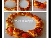 Tarte couronne tomates, mozza chèvre