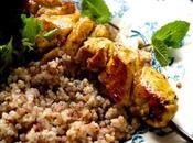 Brochettes poulet épices