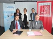 Convention partenariale entre Caisse Dépôts l'Aéroport Strasbourg service développement activités extra-aéronautiques