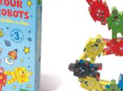d'équilibre bois original tour robots Vilac