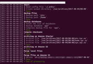 Arkiv : Sauvegarde de fichiers et bases MySQL + archivage sur Amazon S3 et Amazon Glacier