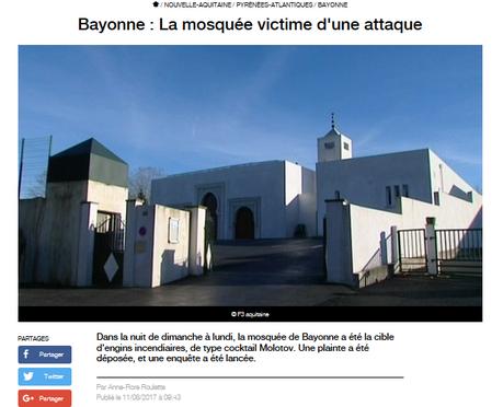 Quand s'inquiètera-t-on enfin des actes terroristes envers nos ami(e)s musulman(e)s ? #Bayonne