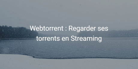 Webtorrent : comment regarder ses torrents en Streaming