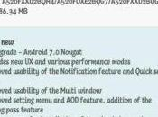 vers Android Nougat disponible pour Galaxy 2017