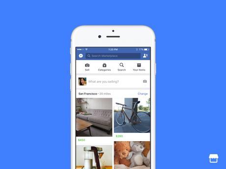 Marketplace : Le nouveau service de Facebook qui vous permet de vendre