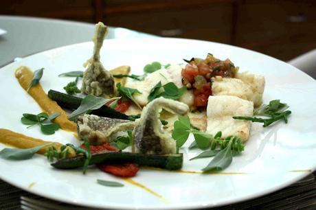 Turbot, tempura d'artichauts poivrade, © Gourmets&co