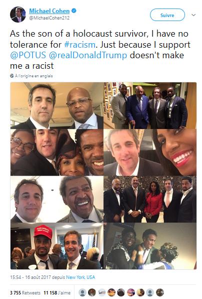 ne riez pas : l'avocat de #Trump, lui aussi a des amis noirs ;)