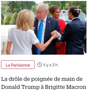 SCOOP Brigitte aussi serre la main de Trump
