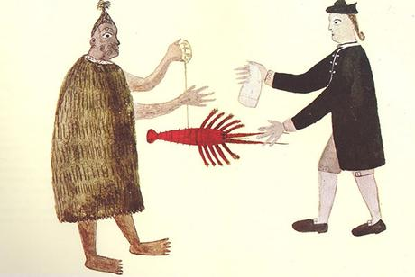 Tupaia-bartering-lobster