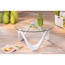 Table salon ronde blanche