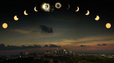 Image composite de l'éclipse totale de Soleil photographiée au-dessus de Nashville, dans le Tennessee -- Crédit : Richard Sparkman