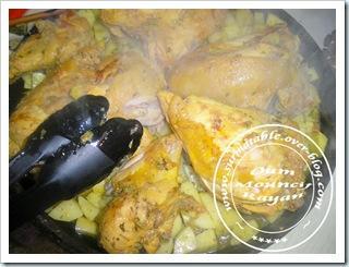 Poulet et pommes de terre au curry double cuisson paperblog - Pomme de terre au four papier alu ...