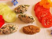 Quenelles capucines noix sauce surprise (Vegan)