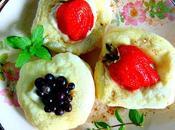 Petits pains petits fruits fromage crème végétal