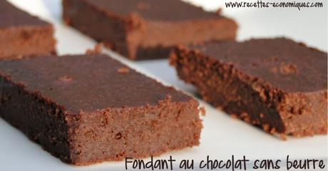 recette du fondant au chocolat sans beurre avec de la compote