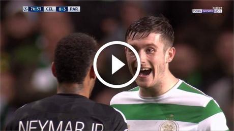 La grosse embrouille entre Neymar et un joueur du Celtic apres le match !