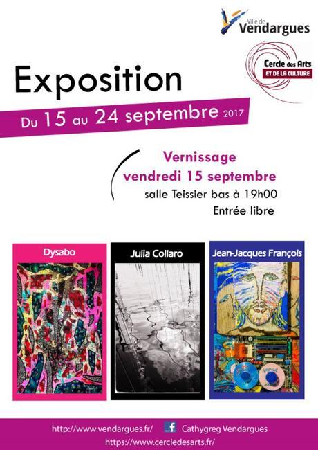 Vendargues – Exposition Collective Cercle des Arts du 15 au 24 septembre