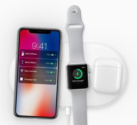 AirPower : Chargement sans fil pour iPhone 8 et X, Apple Watch et EarPods