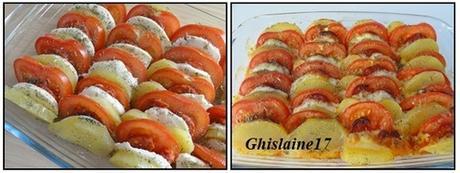 Tian de Pomme de terre, Tomate, Chorizo, Mozzarella