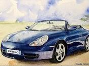 PORSCHE (996) Carrera Cabriolet Bleue.