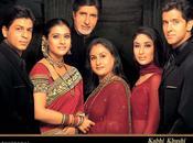 famille indienne (2001) avec shahrukh khan, hrithik roshan, amitabh bachchan kajol.