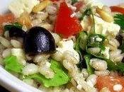 Salade d'orge feta pignons