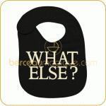 Bavoir noir 'What else'