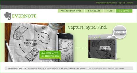 Evernote, votre mémoire en ligne
