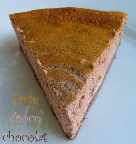 Tarte choco chocolat au fromage blanc