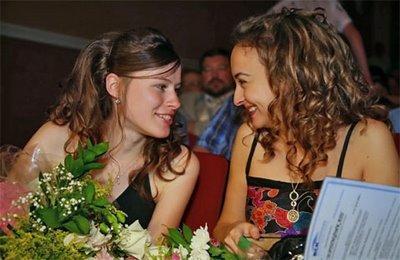 la russe Natalija Pogonina et la bulgare Antoaneta Stefanova - photo Chessbase
