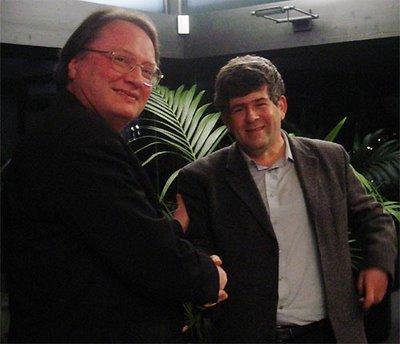 Georges est en compagnie de Mark Dvoretsky, le meilleur entraîneur du Monde