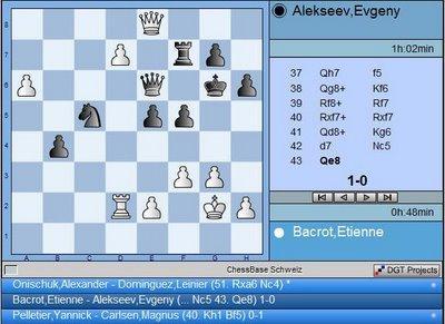 la position finale Bacrot - Alekseev - ronde 6