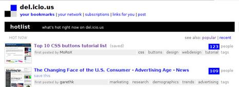 Homepage de del.icio.us