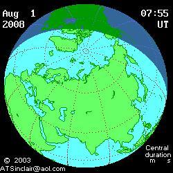 Eclipse totale du Soleil du 1er août
