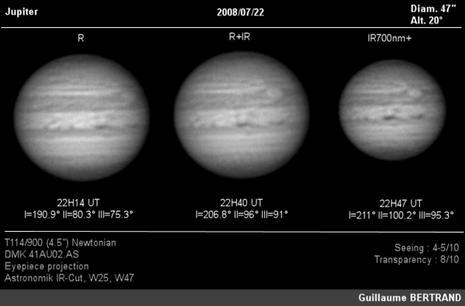 Planche de Jupiter par Guillaume Bertrand