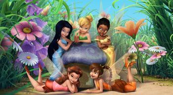 fairies mushroom tnkerbell