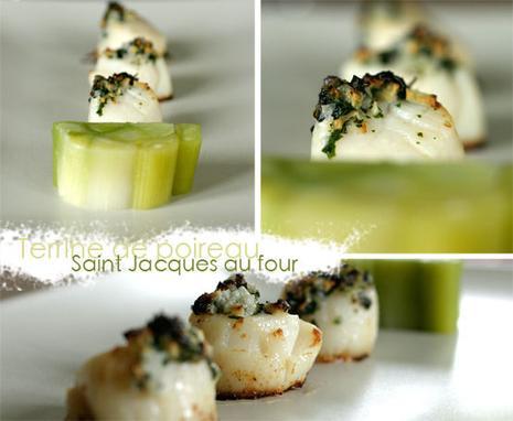 Terrine de poireaux et saint jacques cuites au four lire - Saint jacques au four ...