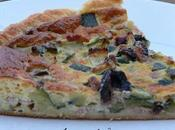 tarte feuilletée courgettes, olives noires bleu d'Auvergne