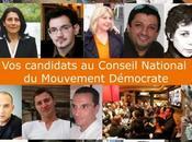 """avant pour élections Conseil national Mouvement démocrate Accompagnez liste citoyens démocrates """"Les adhérents sont notre force"""