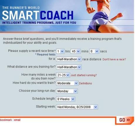 Smartcoach programme entrainement