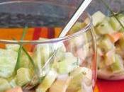 Salade concombre surimi