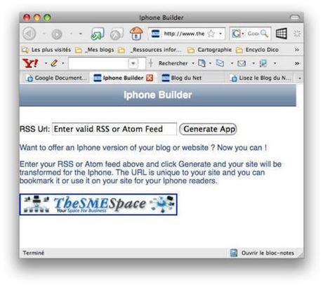 Lisez le Blog du Net sur votre iPhone