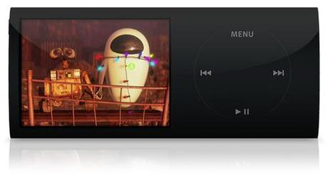 Mock-up de l'iPod nano 4G
