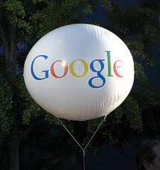 Floating Google Balloon