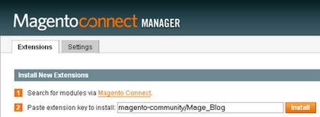 Magento connect - Install extension key