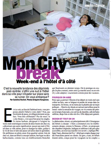 CITY BREAK, Marie Claire, X-08